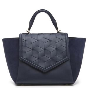 Welden Saunter Flap Satchel Navy